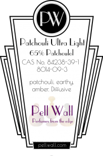 Patchouli Ultra Light: Molecular Distilled to 65% patchoulol