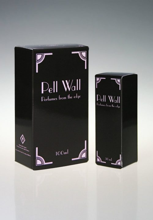 Art Deco style packaging for 100ml and 30ml sizes
