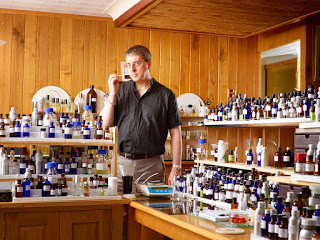 Chris Bartlett in the Pell Wall Perfumery