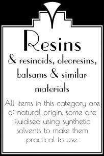 Resins etc