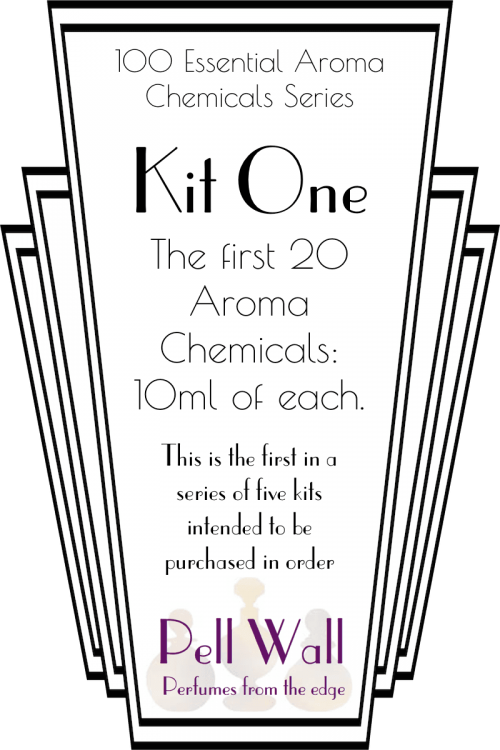 Kit One, contains the first 20 of the 100 Essential Aroma Chemicals