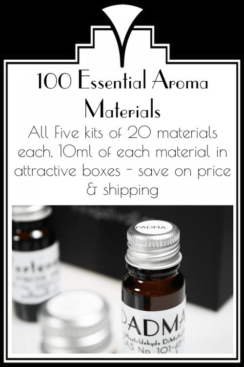 All 100 Essential Aroma Materials